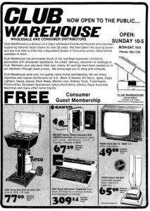 Club Warehouse, 1983
