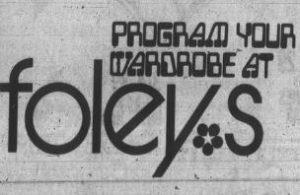 Program Your Wardrobe at Foley's
