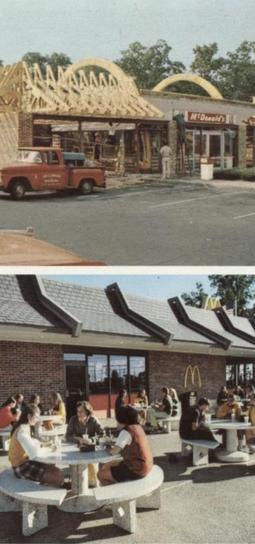 McDonald's Mansard Roof Conversion, 1971