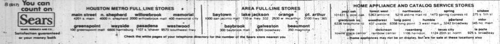 Sears Houston Locations, 1983