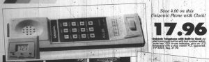 Unisonic Landline Phone With Clock - TG&Y Family Centers