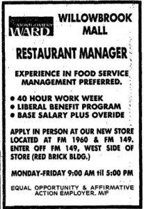 Montgomery Ward Restaurant