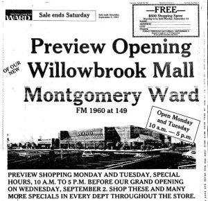 Montgomery Ward, Willowbrook Mall