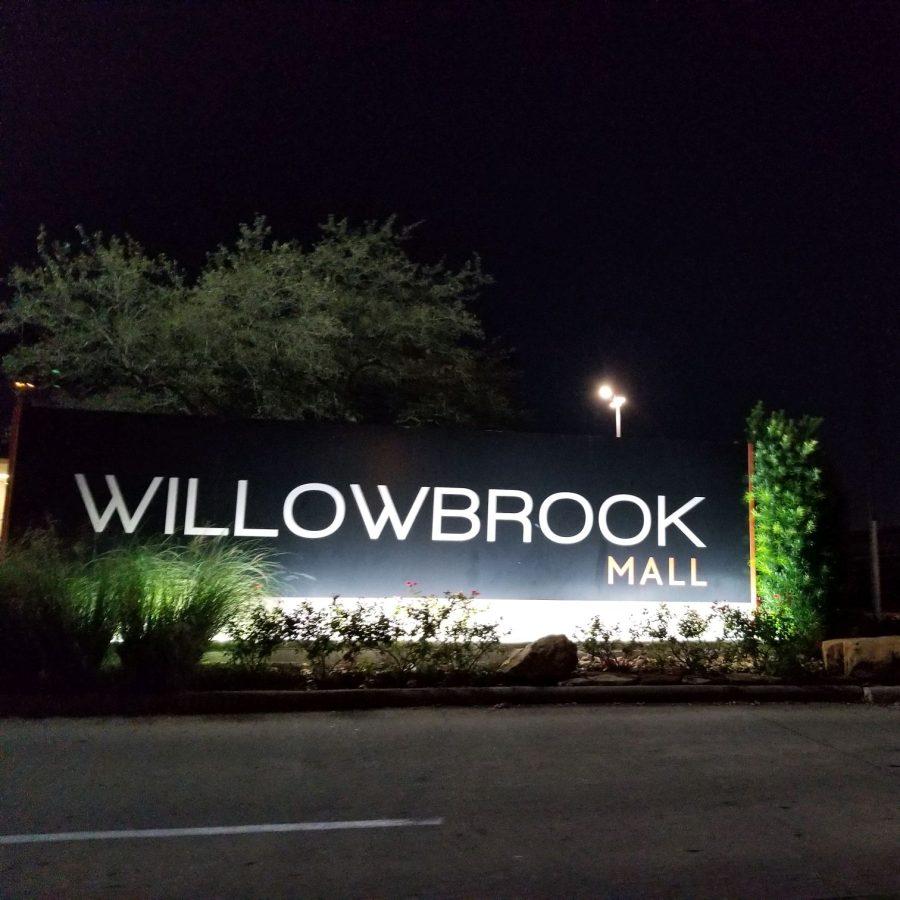 Willowbrook Sign at Night