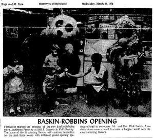 Baskin-Robbins at Kids' Kounty, 1974